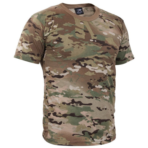 ROTHCO 100% COTTON T-SHIRT - MULTICAM - Hock Gift Shop | Army Online Store in Singapore