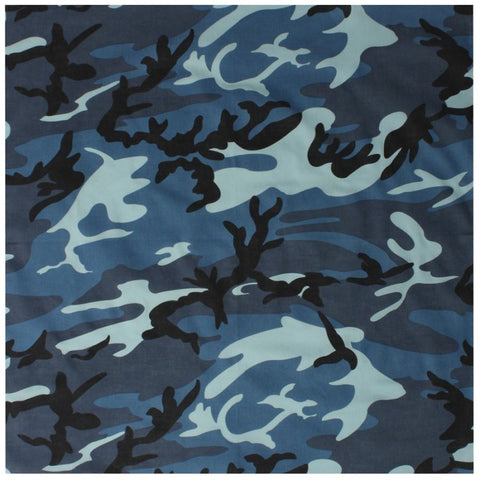 ROTHCO COLORED CAMO BANDANA - SKY BLUE CAMO - Hock Gift Shop | Army Online Store in Singapore