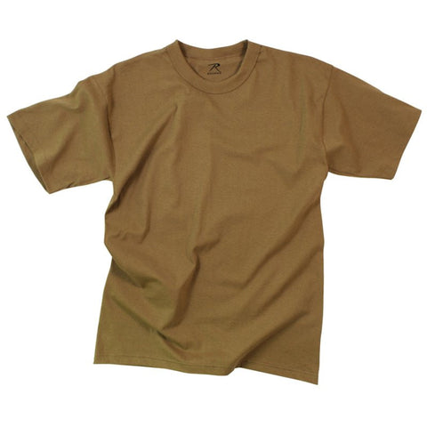 ROTHCO 100% COTTON T-SHIRT - BROWN - Hock Gift Shop | Army Online Store in Singapore