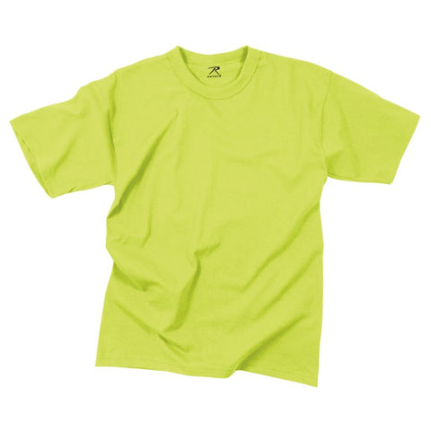 ROTHCO 100% COTTON T-SHIRT - SAFETY GREEN - Hock Gift Shop | Army Online Store in Singapore