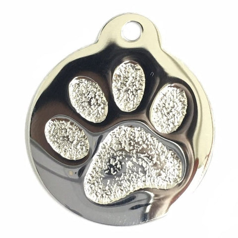 ROUND PAW PRINT PET TAG (STAINLESS STEEL) - Hock Gift Shop | Army Online Store in Singapore