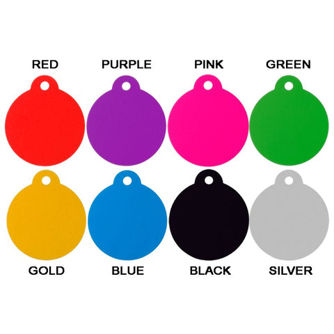 ROUND PET TAG - ALUMINIUM (LARGE) - Hock Gift Shop | Army Online Store in Singapore