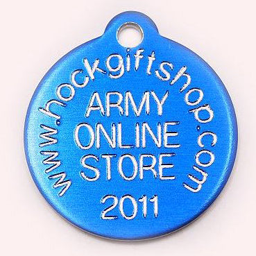 ROUND PET TAG - ALUMINIUM (SMALL) - Hock Gift Shop | Army Online Store in Singapore