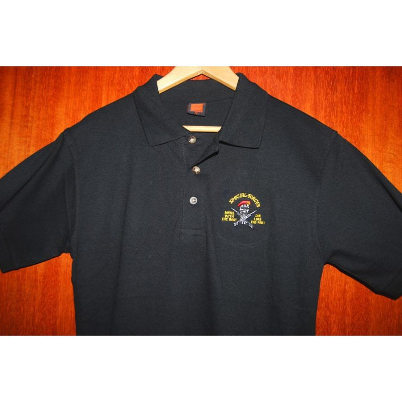 HGS POLO T-SHIRT - SPECIAL FORCES - MESS WITH THE BEST, DIE LIKE THE REST - Hock Gift Shop | Army Online Store in Singapore