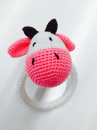 Crochet Cow Ring Rattle