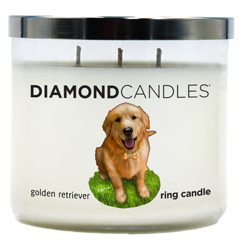 Golden Retriever Charity Ring Candle