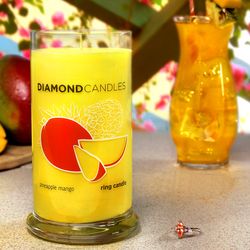 Pineapple Mango Ring Candle Diamond Candle