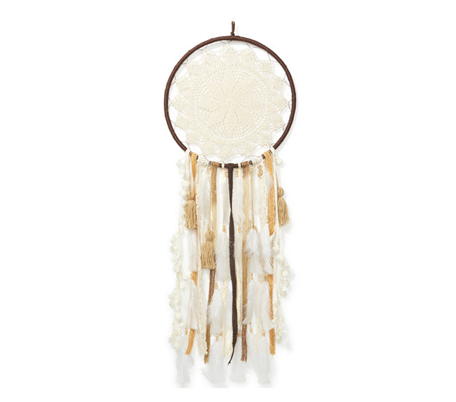 Large Dream Catcher - Chocolate & Gold