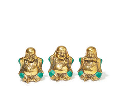 Happy Buddha Hear No Evil Trio Set  - Jade