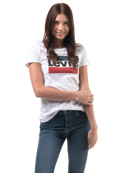 Perfect Logo Tee Shirt  - WHITE