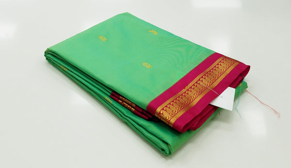 TSH150 - Sea Green with Pink Korvai