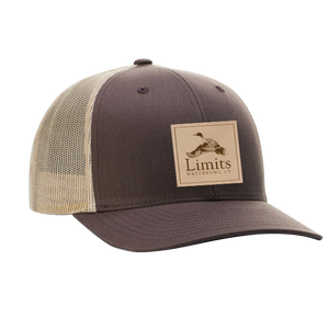 Pintail Leather Patch Brown/Tan-hat-Limits Waterfowl Co.-Limits Waterfowl Co.