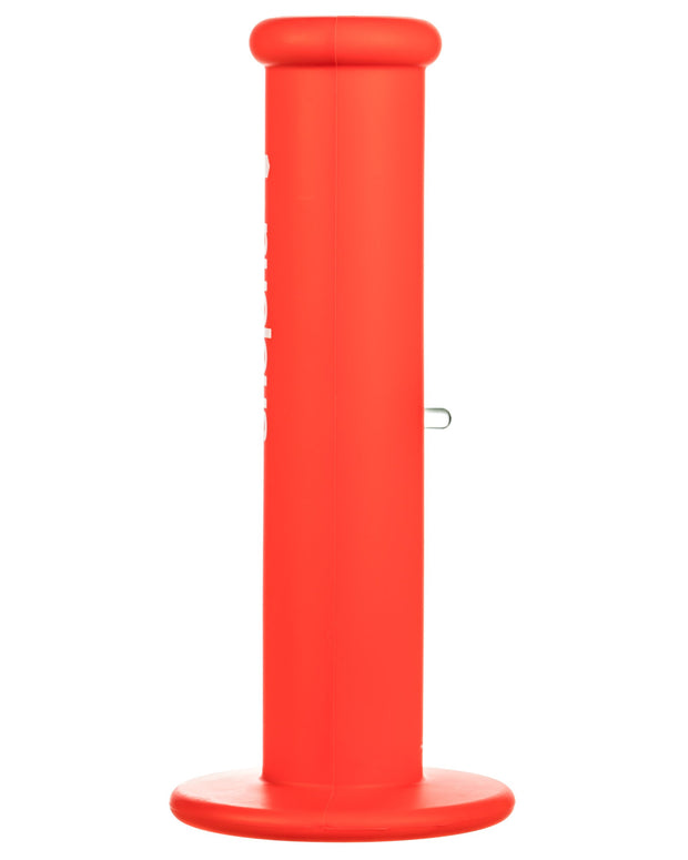 "Red 10"" Silicone Straight Tube Bong"