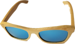 Turt Sunglasses, Deep Sea, Blue, Bamboo, Natural