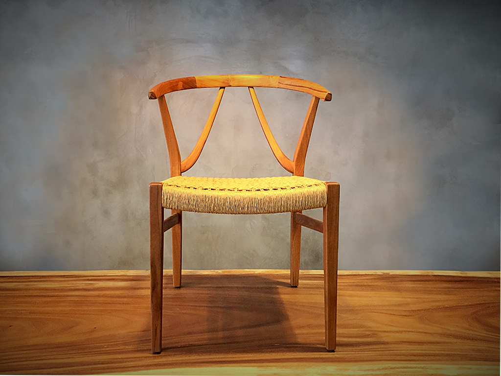 W Chair with Danish Cord
