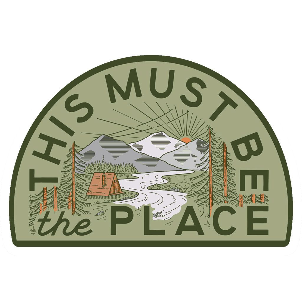 This Must Be The Place Sticker: The Mountains