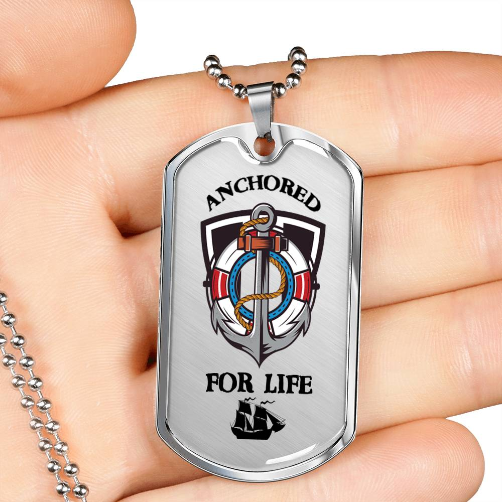Nautical Necklace Dog Tag Jewelry Stainless Steel