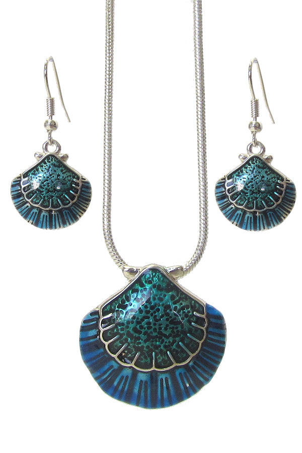 Shell Sealife Necklace Set