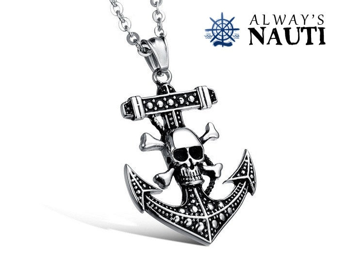 Anchor With Skull And Crossbones Nautical Jewelry For Men