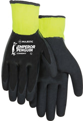 Emperor Penguin Full Coated Nitrile Sandy Smooth Winter Lined Gloves M-XL Majestic 3398DNY