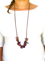 organic bead necklace created from pure Australian timbers
