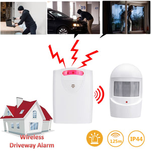 Wireless PIR Motion Sensor Alarm With Loud Siren Alert System for Home, Shop, Office