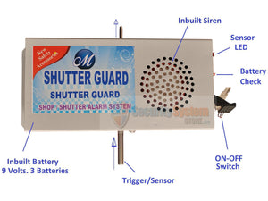 Shutter Alarm Security System