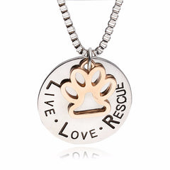 Dog Rescue Necklace- 100% PROCEEDS TO RESCUE!
