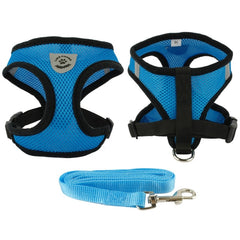 Breathable Mesh Choke Free Dog Harness and Leash Set