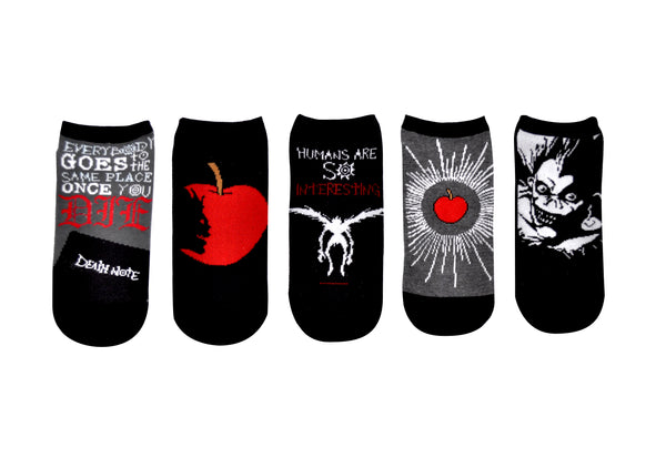 Death Note Socks Ryuk 5 Pair Pack of Lowcut Socks
