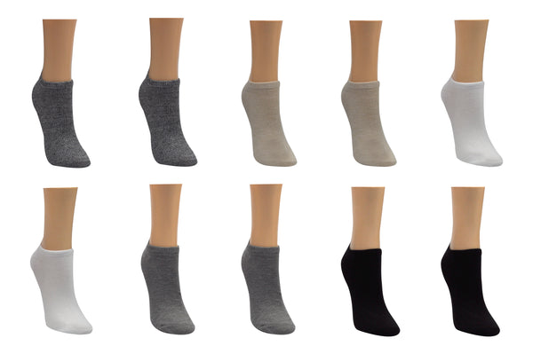 SOCK HOUSE CO. 10 Pair Pack Basic Lowcut Socks