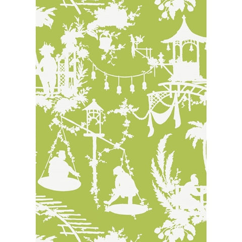 South Sea Wallpaper in Green