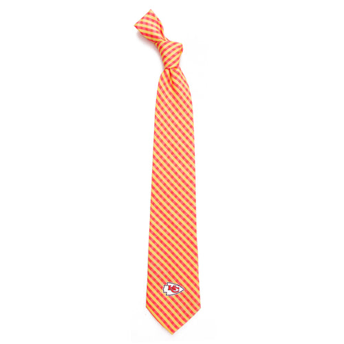 Kansas City Chiefs Tie Gingham
