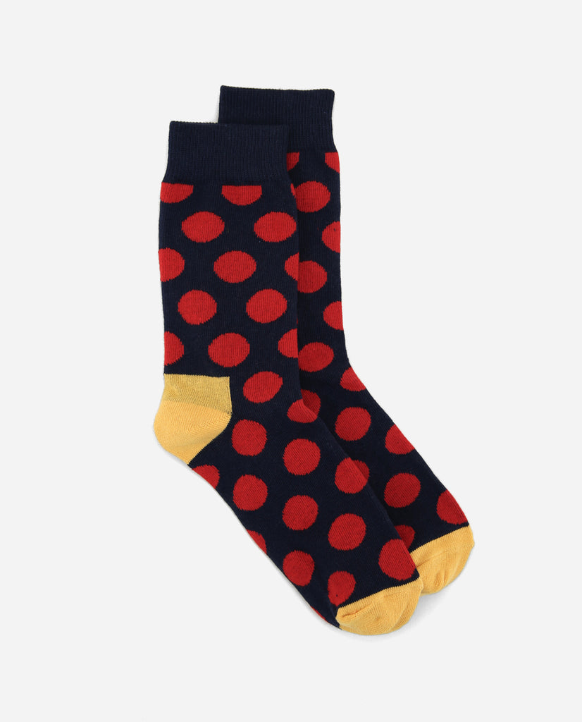 Gumball Sock - Navy/Red