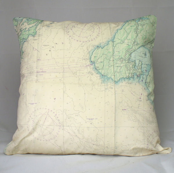 Nautical Chart Cushion Cover - Wellington
