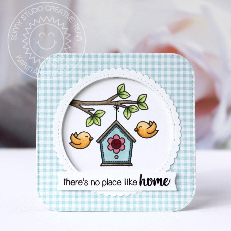 Sunny Studio Stamps A Bird's Life No Place Like Home Birdhouse Card
