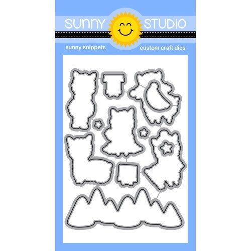 Sunny Studio Stamps Alpaca Holiday Low Profile Metal Cutting Dies Set