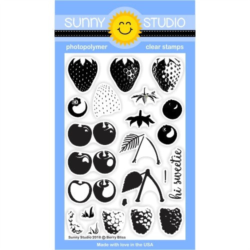 Sunny Studio Stamps Berry Bliss 4x6 Clear Photopolymer Stamp Set
