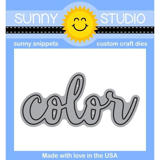"Sunny Studio Stamps 2.5"" Color word die"