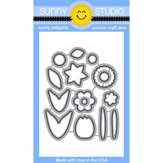 Sunny Studio Stamps Friends & Family Flower Die Set