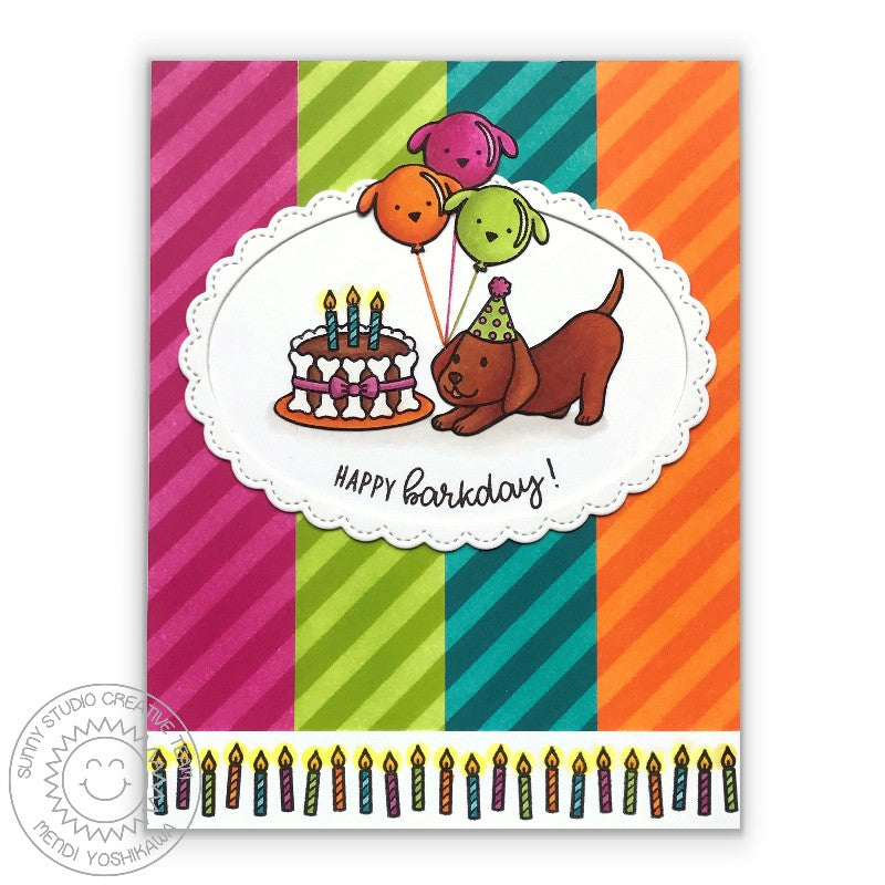 Sunny Studio Stamps Party Pups & Devoted Doggies Dog Birthday Card