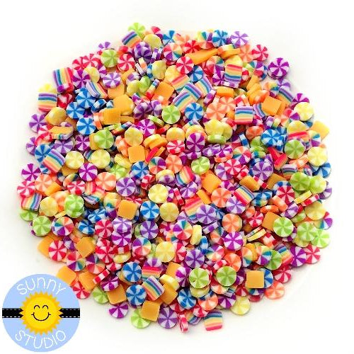 Sunny Studio Stamps Rainbow Candy Clay Confetti Sprinkles Embellishments for Shaker Cards