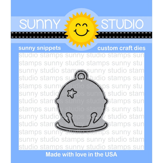 Sunny Studio Stamps Silver Bell Jingle bell Standalone Steel Rule Die
