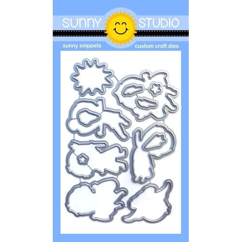 Sunny Studio Stamps Super Duper Hero Themed Low Profile Metal Cutting Dies