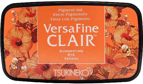 Tsukineko VersaFine Clair Summertime Orange Pigment Ink Stamp Pad