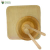 "Set of 10 areca squr plate 8""+bowl+wooden spoon+fork biodegradable compostable microwv+freezer safe"
