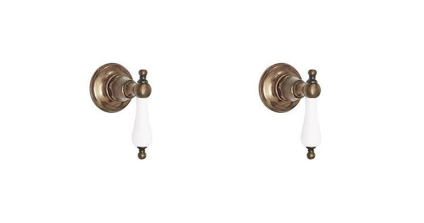 Wall Taps - Porcelain Levers