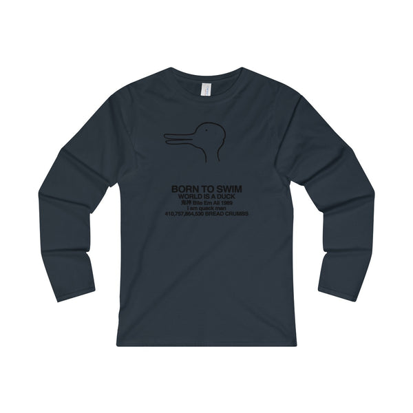 Quack Man Ladies' Long Sleeve T-Shirt