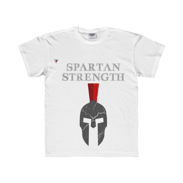 Spartan Strength Grey Gym Youth Regular Fit Tee