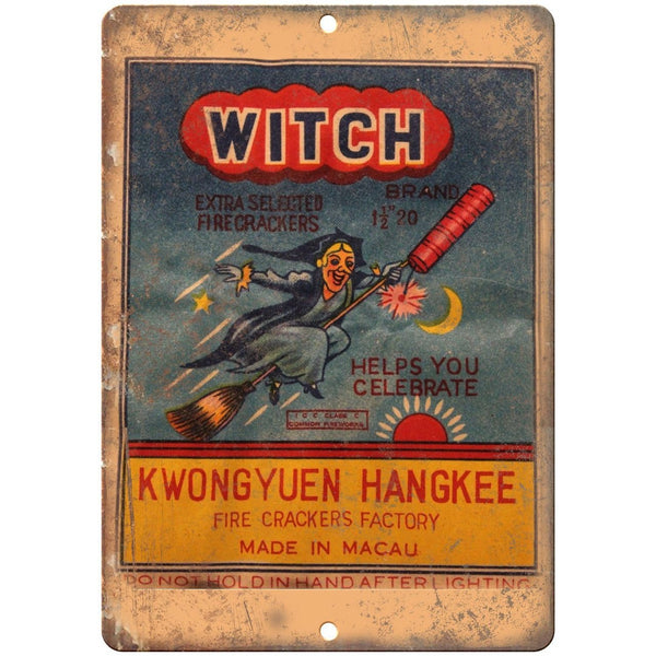 "Witch Firecrackers 4th of July Art 10"" X 7"" Reproduction Metal Sign ZD43"